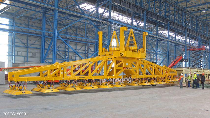 Vacuüm heftoestellen van Aerolift met een capaciteit van 70 ton