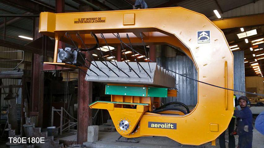 Aerolift vacuüm heftoestel voor het handlen van betonnen trapelementen